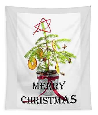 Christmas Tree - Merry Christmas Tapestry