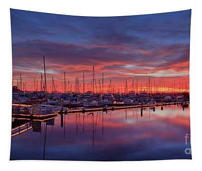 Chula Vista J Street Marina Sunset Tapestry