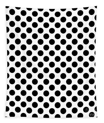 Circles Black On A White Background - Ddh620 Tapestry