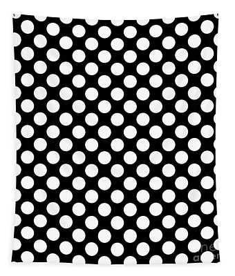 Circles Or Dots White On A Black Background - Ddh621 Tapestry