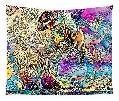 Circus Kitty Tapestry