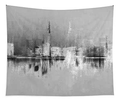 City In Black Tapestry