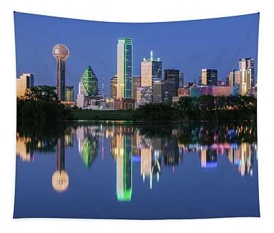 City Of Dallas, Texas Reflection Tapestry