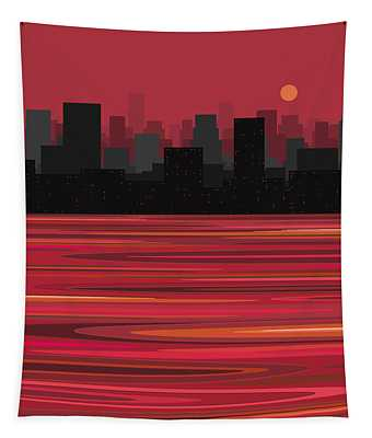 City On The Water Tapestry