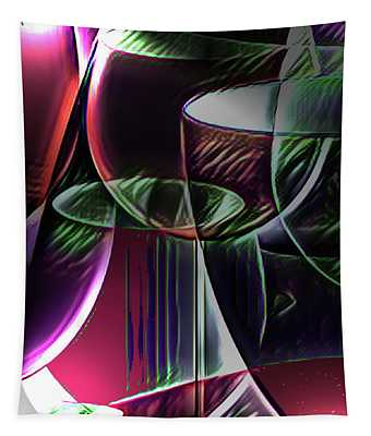 Claret Abstract Tapestry