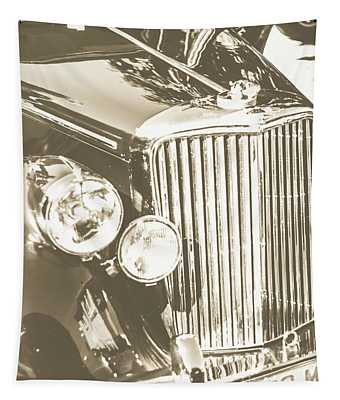 Classic Car Chrome Tapestry
