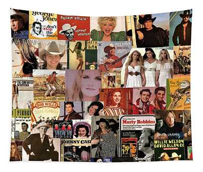 Classic Country Music Collage 1 Tapestry