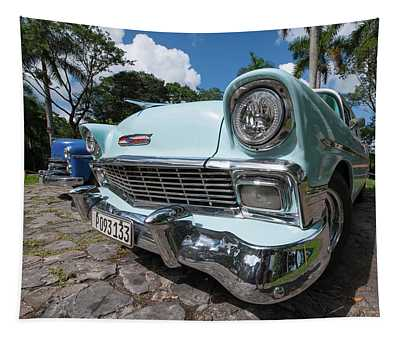 Classic Cuban Chevy Tapestry