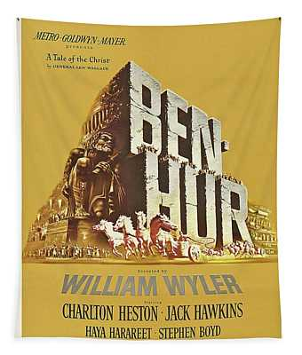 Classic Movie Poster - Ben Hur Tapestry