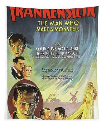 Classic Movie Poster - Frankenstein Tapestry
