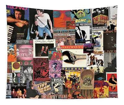 Classic Pop Rock Music Collage 4 Tapestry