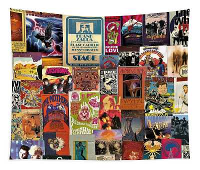 Classic Rock Collage 12 Tapestry