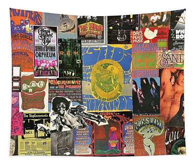 Classic Rock Collage 5 Tapestry