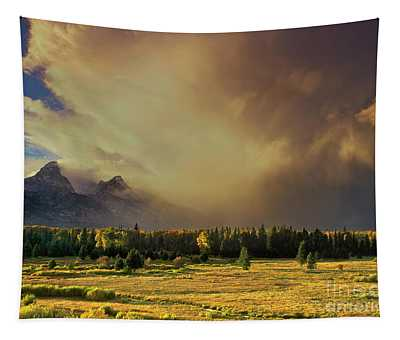 Clearing Summer Storm Grand Tetons National Park Tapestry