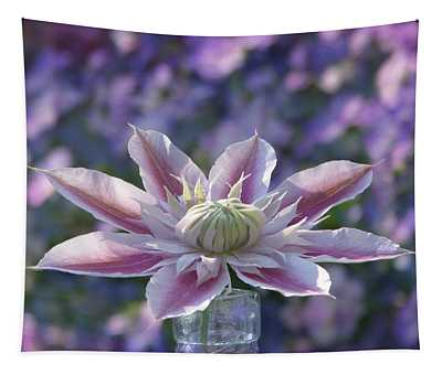 Clematis Curtain Call Tapestry
