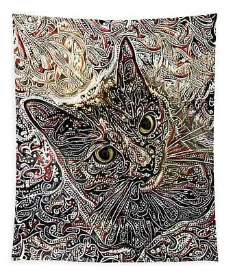 Cleo The Tortoiseshell Cat Tapestry