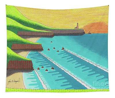 Cliffside Sunset  Tapestry