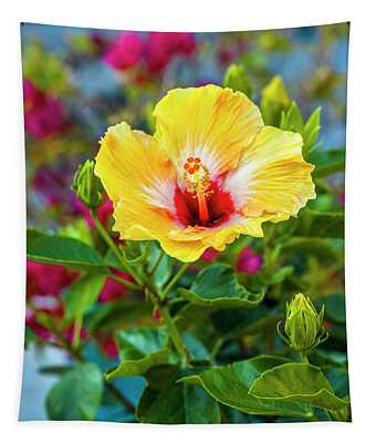 Close-up Of Hibiscus Flower Tapestry