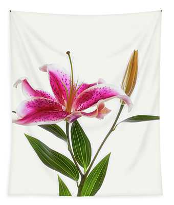 Close-up Of Stargazer Lily Tapestry