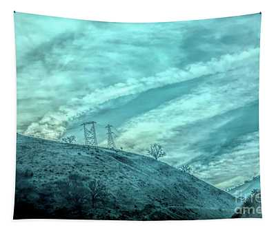 Clouds Over Hills Los Angeles Grapevine  Tapestry