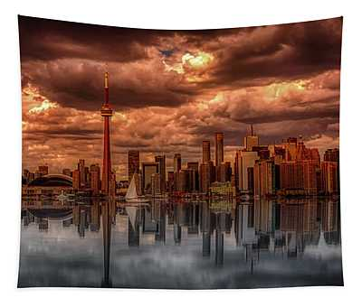 Clouds Over Toronto Tapestry