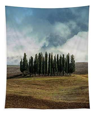 Cloudy Afternoon In Toscany Tapestry