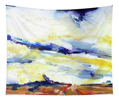 Cloudy Road Tapestry