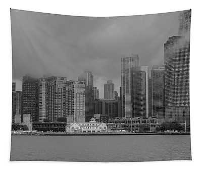 Cloudy Skyline Tapestry