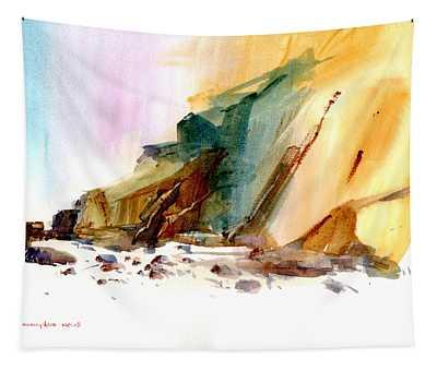Coastal Cliffs Tapestry