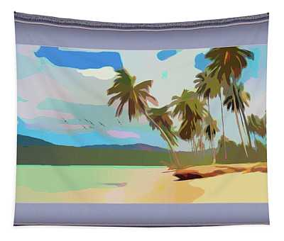 Coastal Palm Trees Tapestry