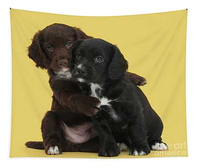 Cocker Cuddles Tapestry