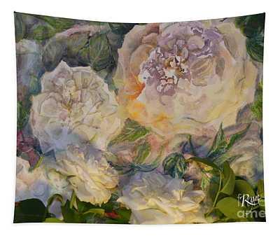 Coeur De Neige Rose Art And Flower Tapestry