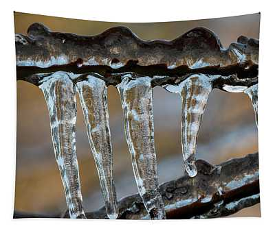 Cold Snap Icicles Tapestry