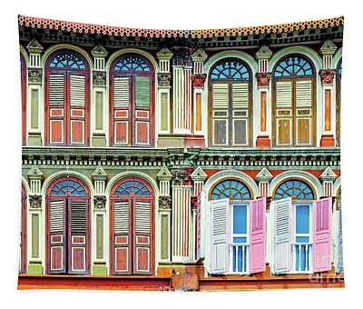 Colonial Architecture In Singapore Tapestry