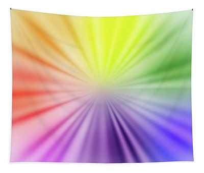 Color Burst Square Tapestry