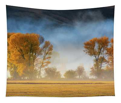 Tapestry featuring the photograph Colorado Autumn Fog by John De Bord
