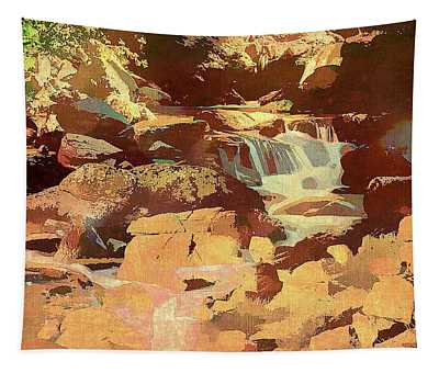 Colorado Stream And Boulders Tapestry