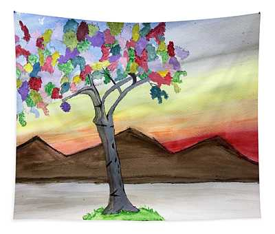 Colored Tree Tapestry