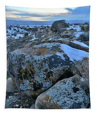 Colorful Boulders At Sunset In The Book Cliffs Tapestry