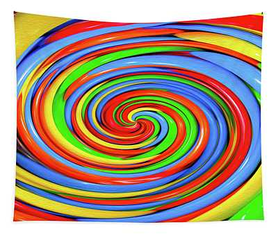 Colorful Candy Twirl Tapestry
