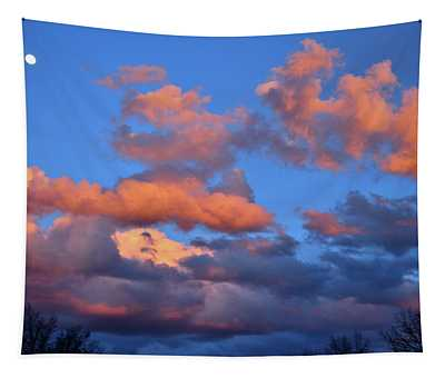 Colorful Clouds At Sunset In Grand Junction Colorado Tapestry