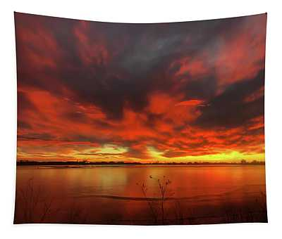 Colorful Colorado Sunrise Tapestry