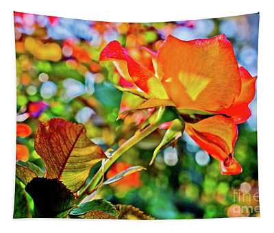 Colorful Flower Tapestry