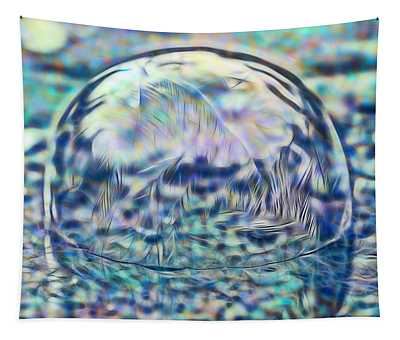 Colorful Frozen Bubble Tapestry