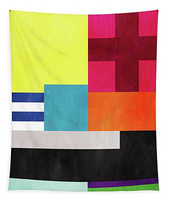 Colorful Geometric Abstract 2- Art By Linda Woods Tapestry