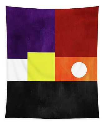 Colorful Geometric Abstract 3- Art By Linda Woods Tapestry