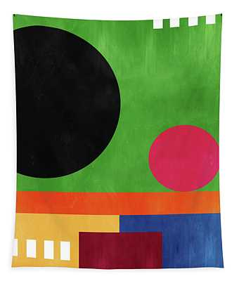 Colorful Geometric Abstract 4- Art By Linda Woods Tapestry