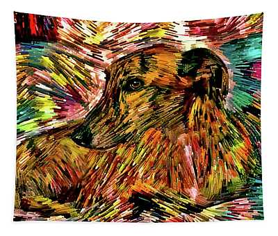 Colorful Greyhound Art Tapestry