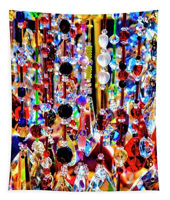 Colorful Hanging Glass Beads Tapestry