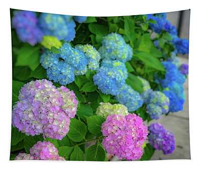 Colorful Hydrangeas Tapestry